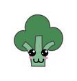 kawaii cute happy broccoli vegetable vector image vector image