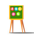 learning letters board kindergarten vector image