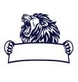 lion king logo banner emblem vector image vector image