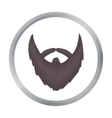 Man s beard icon in cartoon style isolated on vector image