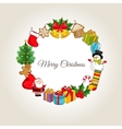 Merry Christmas Concept with Holidays Attributes vector image vector image