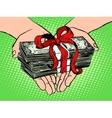 Money as a gift Financial income vector image vector image