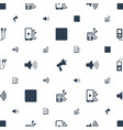 mp3 icons pattern seamless white background vector image vector image