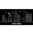 new york city silhouette skyline usa - new york vector image vector image