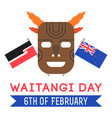 new zealand waitangi day on the 6th of february vector image vector image