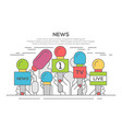 news flat banner poster vector image vector image