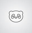 panda outline symbol dark on white background logo vector image vector image