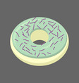 pistachio donut isolated baking sweets on white vector image
