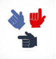 pointing fingers set vector image vector image