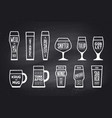 poster beer glassware types vector image