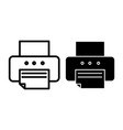 printer line and glyph icon fax vector image vector image