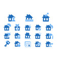 property insurance blue icon vector image