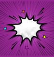 retro speech bubble on purple background vector image vector image