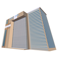 sample hotel plaza building vector image vector image