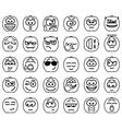 Set Halloween Smileys vector image