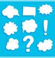 set of comic bubble sticker elements vector image vector image