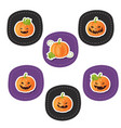 set of pumpkins for halloween set of pumpkins for vector image