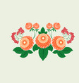 slavic national floral ornament for use in vector image vector image