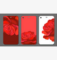smart phone cover or case with roses rose vector image