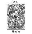 snake symbol tarot card from lenormand gothic vector image