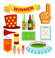 sport fan items supporters accessories vector image