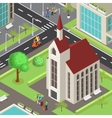 Tourist Sightseeing Isometric Template vector image vector image