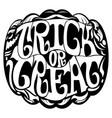 trick or treat emblem vector image vector image