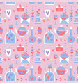 valentine s day seamless pattern love romance vector image