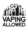 Vaping allowed vector image vector image