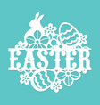 Vintage paper cut easter floral egg rabbit title