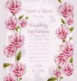 watercolor pink wild roses card beautiful vector image vector image