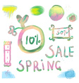 Watercolor sale labels set vector image