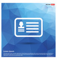 webcard id icon vector image