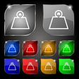Weight icon sign Set of ten colorful buttons with vector image