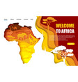 welcome to africa website landing page vector image vector image