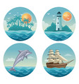 white background with colorful circular frames of vector image vector image