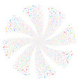 wrench fireworks swirl flower vector image vector image