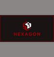 yg hexagon logo design inspiration vector image vector image