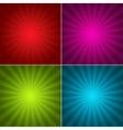 Four Grunge Vintage background vector image