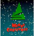 Merry Chrismas festive creative card vector image