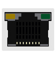 Network ethernet port vector image