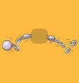 Cartoon of shackles vector image