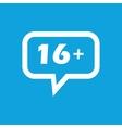 16 plus message icon vector image vector image