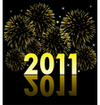 2011 with fireworks vector image vector image