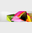 3d polygonal shape geometric background vector image vector image