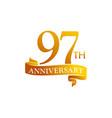 97 year ribbon anniversary vector image vector image