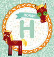ABC animals H is horse Childrens english alphabet vector image vector image