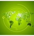 Abstract bright green technology background vector image vector image
