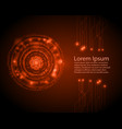 abstract circle digital technology background vector image vector image