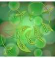 abstract green background with bokeh light effects vector image vector image